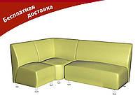 Комплект мягкой мебели для офиса и кафе светло-зеленый