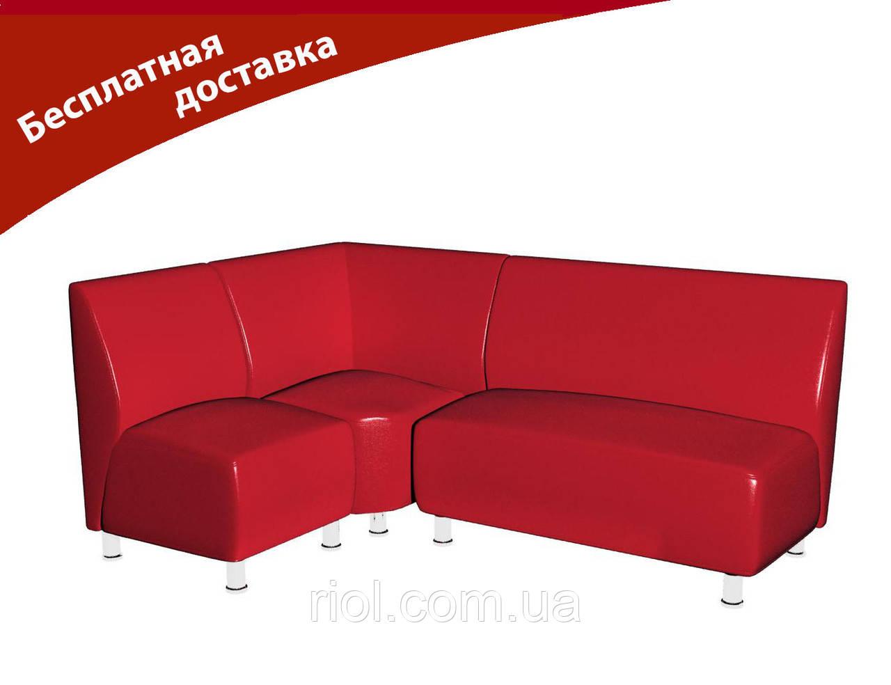 Комплект мягкой мебели для офиса и кафе красный