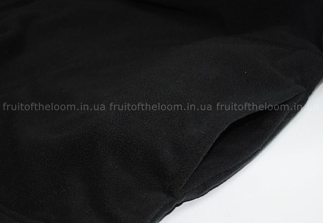 Чёрная мужская классическая флисовая кофта на замке