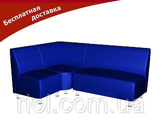 Комплект м'яких меблів для офісу та кафе синій
