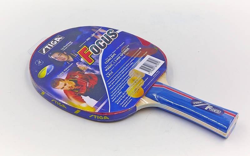 Ракетка для настольного тенниса 1 штука Дубл. SGA МТ-1901 OMEGA,FIGHT,FOCUS,TWIST