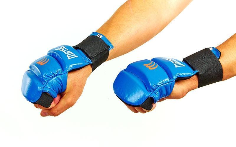 Рукавички для карате шкіряні MATSA MA-1804-BL