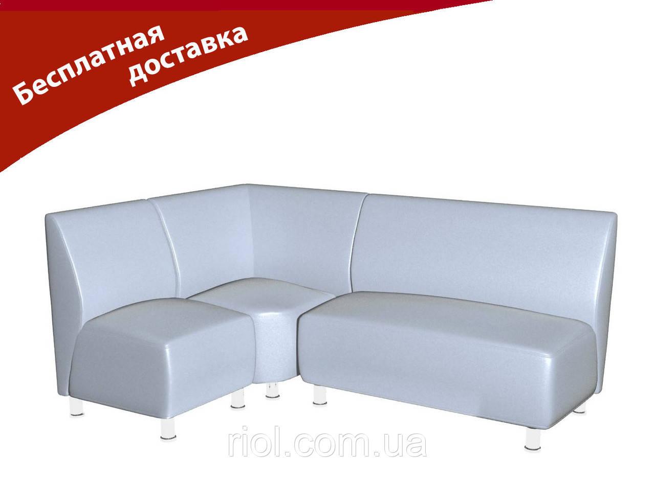 Комплект мягкой мебели для офиса и кафе белый
