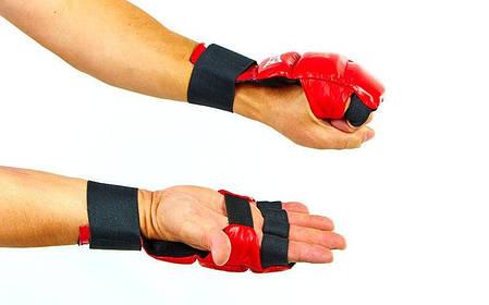 Рукавички для карате шкіряні MATSA MA-1804-R, фото 2