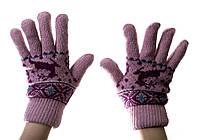 Рукавички женские теплые pink