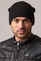 Мужская черная вязаная шапка Caskona PREMIUM UniX