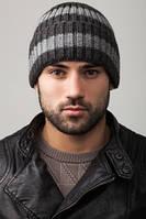 Серая мужская вязаная шапка Caskona ALASKA 5