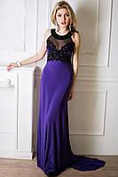 Красивое вечернее платье в пол Кассандра шлейф