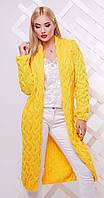 Кардиган удлиненный желтый, фото 1
