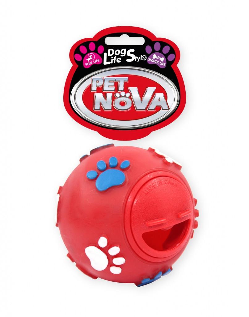 Игрушка для собак Шар кормушка Pet Nova 7.5 см