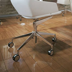 Защитный коврик Николь под кресло 0,8мм 1*1,25м прозрачный