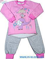 Пижама детская для девочек с начесем My World