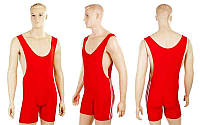 Трико для борьбы и тяжелой атлетики, пауэрлифтинга CO-3536-R красный