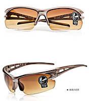 Мужские Солнцезащитные очки спортивные коричневые, Очки для спорта