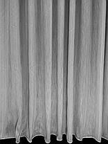 Тюль Полоса Шабле, Серая (3м ширина), фото 3