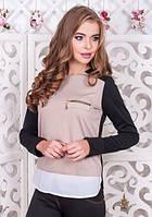 Стильная женская кофта серого цвета