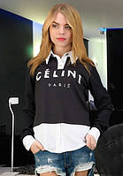Стильная черная кофточка Celine
