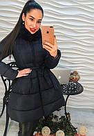 Стильное женское пальто наполнитель холлофайбер размеры: 42,44,46,48,50