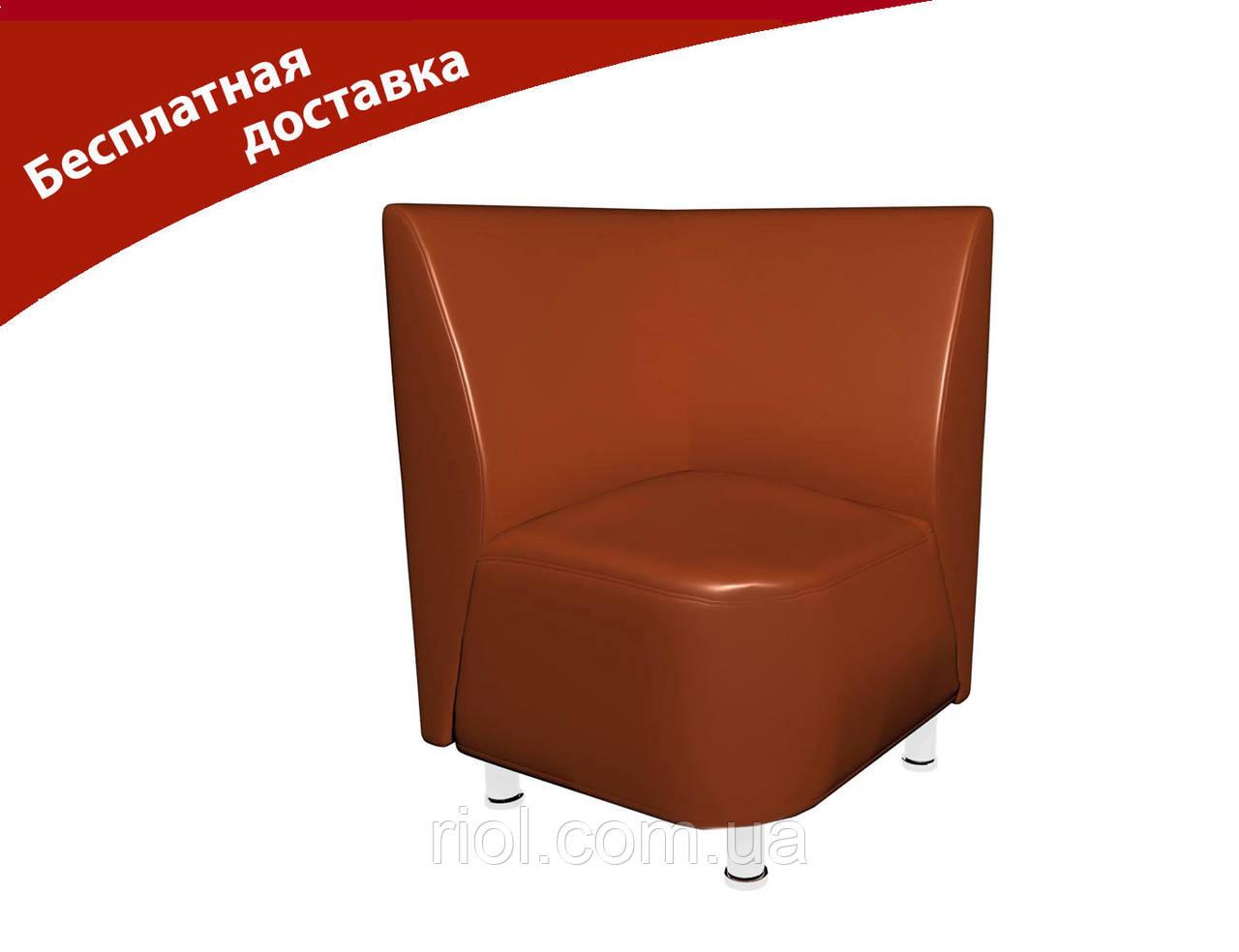 Кресло-угол светло-коричневый