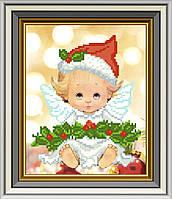 СД-267. Схема для вишивки бісером Новорічний ангелочок.