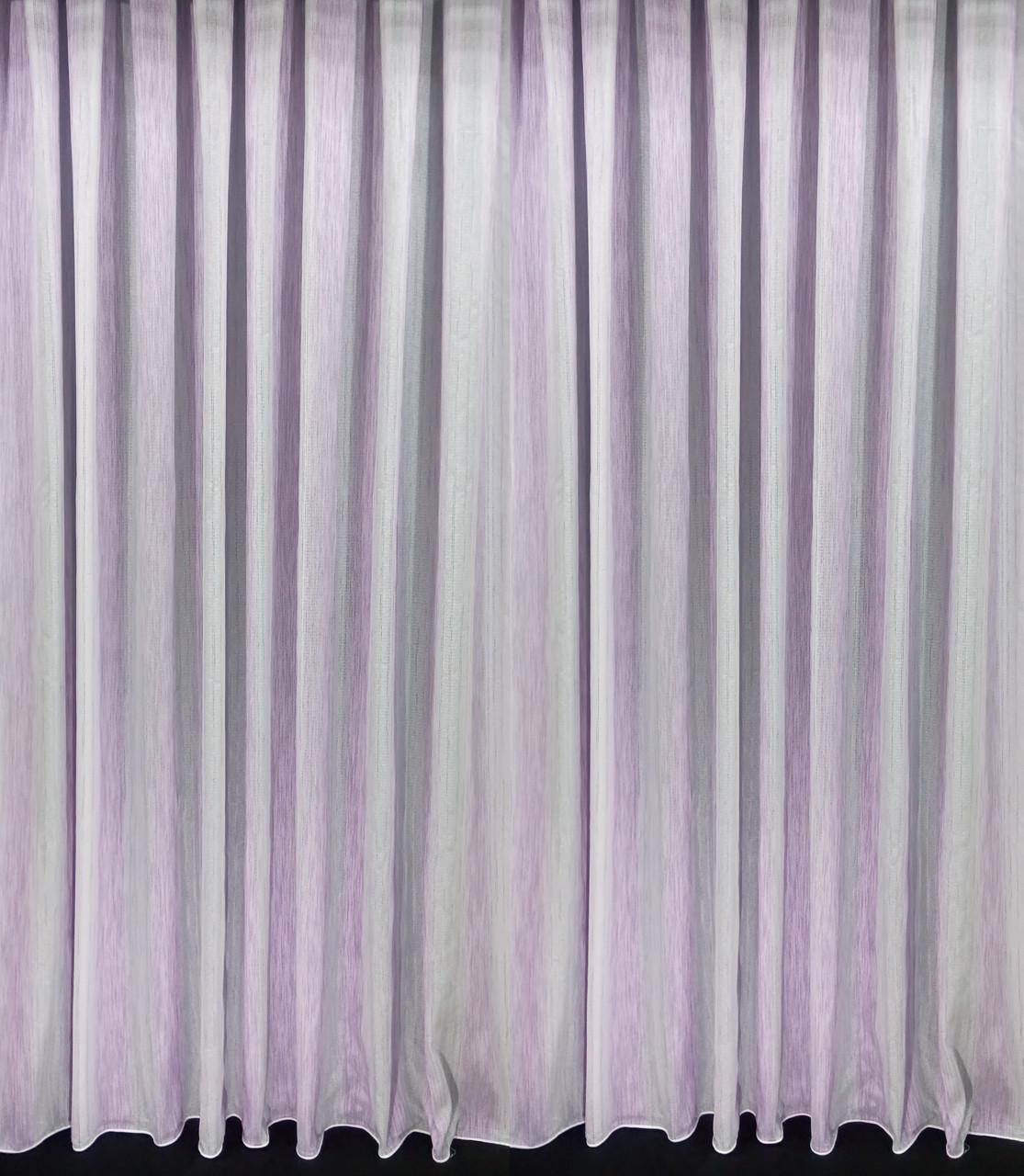 Тюль Полоса Шабле, Сирень (3м шириной)