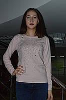 Молодежная кофта с стразами и карманом Турция, фото 1