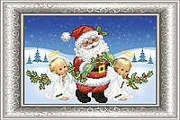 СКМ-182. Схема для вишивки бісером Санта з ангелами.