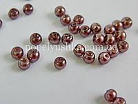 Перлини скляні  4 мм пастельні (50 шт.)