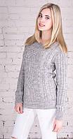 Женский свитер с плетением мышка, фото 1