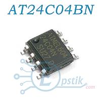 AT24C04BN, Память энергонезависимая, 4 Кбит, EEPROM, SOP-8