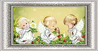СКМ-183. Схема для вишивки бісером Новорічні ангели.