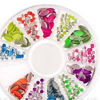 Декор для ногтей ( цветной метал)