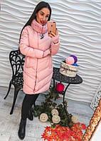 ddc738da77f Женское длинное пальто с мехом наполнитель холлофайбер размер S