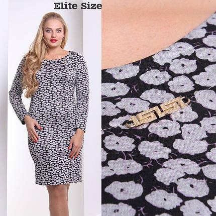 """Модное женское платье ткань """"Французский трикотаж"""" 46 размер норма, фото 2"""