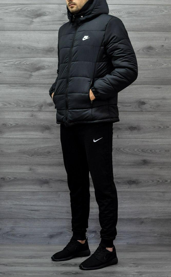 e84a0acc Мужская куртка Nike зимняя (черная), ТОП-реплика: продажа, цена в ...