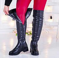 Зимние сапоги ботфорты женские