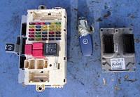 Блок управления двигателем комплект ( ЭБУ )FiatStilo 1.6 16V2001-200755181521, IAW 5NF.T1   C146, IAW 5NF.