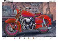 Схема для вышивки бисером Мотоцикл
