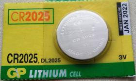 Литиевая батарейка 3В GP CR2025 CMOS