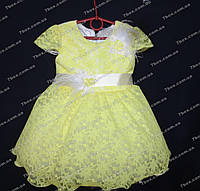 """Детское платье бальное """"Адель"""" (желтое) Возраст 2-3г., фото 1"""