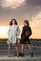 Женская рубашка-платье OMNIA с нашивками