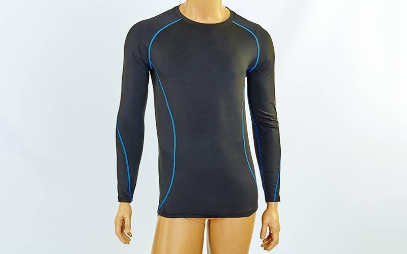 Компрессионная мужская футболка с длинным рукавом LD-1001-B
