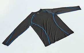 Компрессионная мужская футболка с длинным рукавом LD-1001-B , фото 3