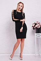 Платье Влада, платье черное, платье до колена,