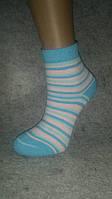 Детский носок, полный плюш, Зима, хлопок, Полоска