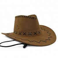 Шляпа Ковбоя замша (бежевая)