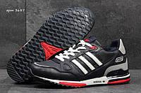 Мужские зимние кроссовки Adidas Zx 750 темно синий с белым 3687