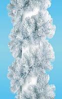 Новогодняя гирлянда хвойная 250см Лесная Белая 2.5м Рождественская
