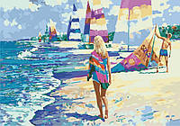 Картина по номерам KH2718 На Мальдивах Худ Говард Беренс (35 х 50 см) Идейка