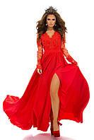 Вечернее платье длинное с дорогим кружевом